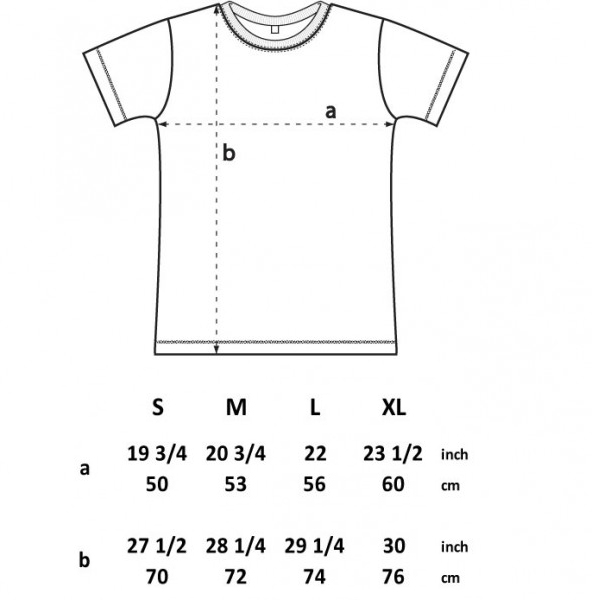 Dispatch Recordings T-shirt sizes